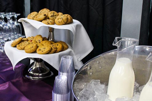 Milk and cookies dessert bar