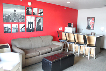 Two bedroom suite living space