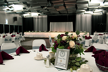New Year's Eve reception in Skybox Banquet Hall